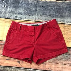 🗝Red J Crew Chino Shorts Size 4🗝